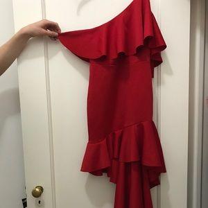 Red Ruffle (dancing emoji) Dress